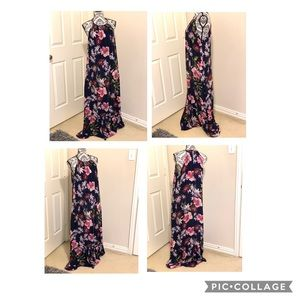 New York and company floral maxi dress size XL